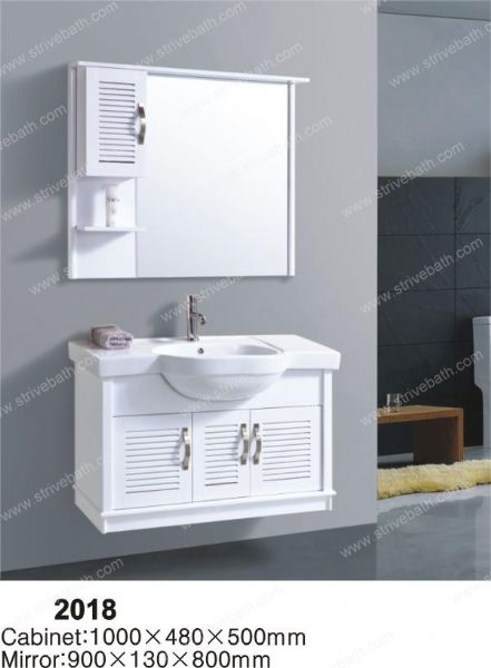Pvc bathroom cabinet 2018 strive bath for Bathroom cabinets 2018